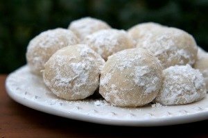 Italian Wedding Cookies which are among the many things you will want to be baking while reading this book!