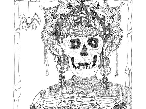 the empress of death by laurie lipton - Outside The Lines Coloring Book