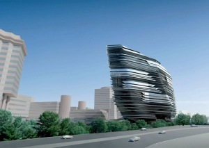 One of Zaha Hadid's beautiful and innovative buildings
