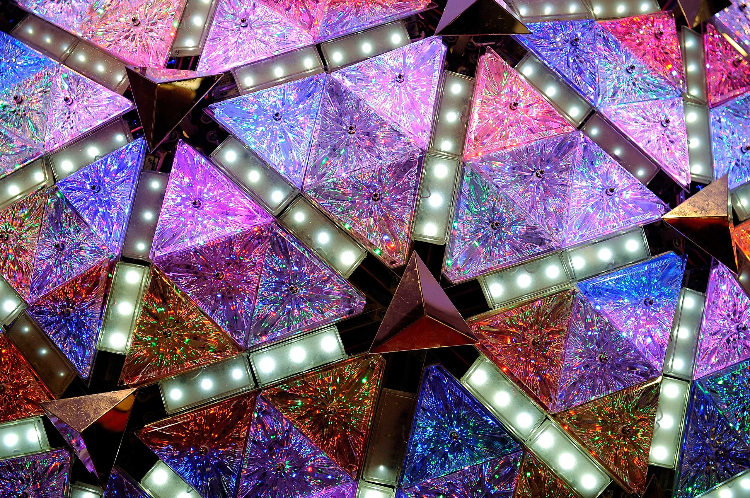 Times Square New Year's Eve Ball Goes On Display ...