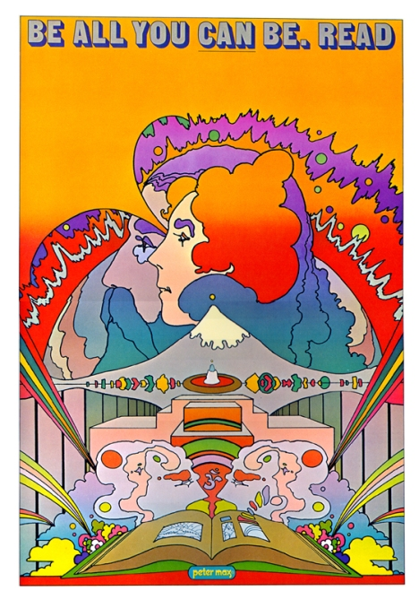 1969 Poster by Peter Max for National Library Week