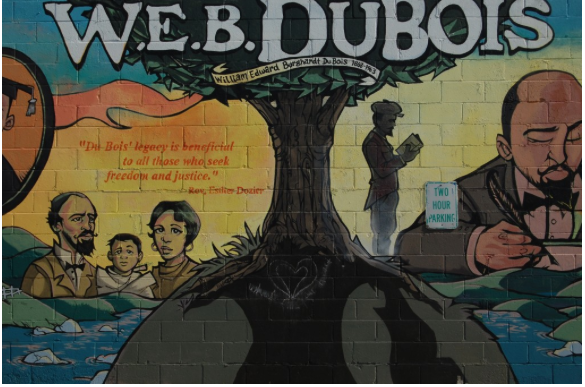 An inspirational mural in Du Bois's hometown of Great Barrington, Massachusetts