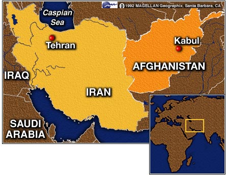 Iran-Afghanistan-map