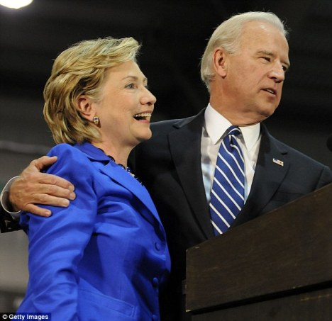 Hillary Clinton and Jo Biden, October 11, 2008