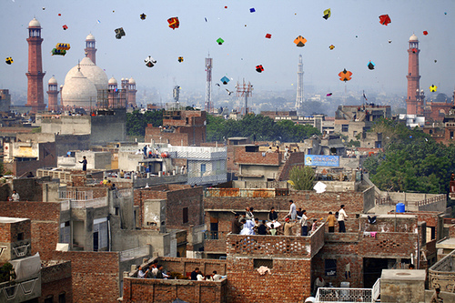 Actual kite festival in Lahore