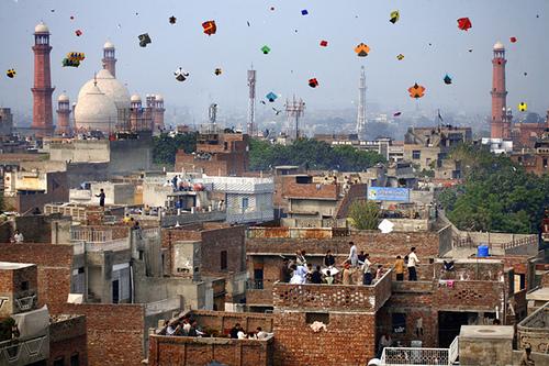 Actual kite festival in Lahore