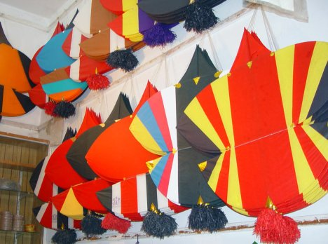 Colorful kites for sale for Basant