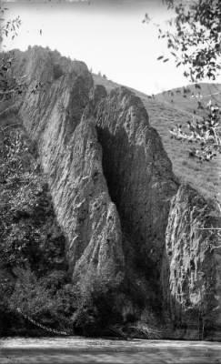 Devils Slide rock formation in Weber Canyon,  Utah