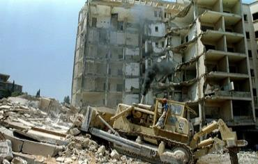 US embassy in Beirut bombed in 1983 Photo: REUTERS/Stringer
