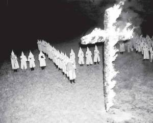 Ku Klux Klan rally in Tampa, FL,  Jan. 30, 1939. (AP Photo)