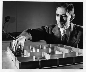 Claude Shannon also invented a number of mazes, games, and  parlor tricks.