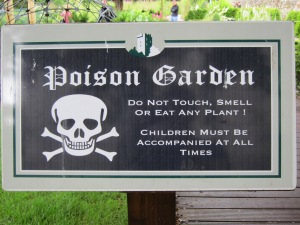 Poison Garden at Blarney Castle in Ireland