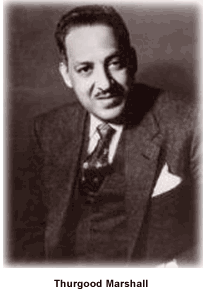 Thurgood Marshall as a young NAACP lawyer