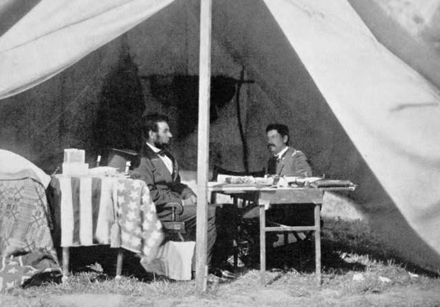 President Abraham Lincoln and General George McClellan, October 3, 1862