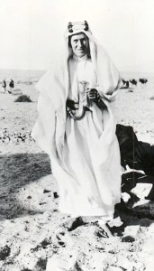 "T. E. Lawrence, or more familiarly, ""Lawrence of Arabia"""