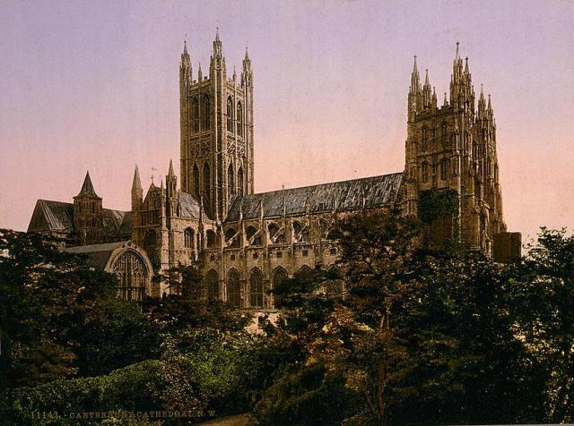 Canterbury Cathedral from the north west circa 1890–1900