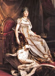Joséphine, first wife of Napoleon I, and thus the first Empress of the French.
