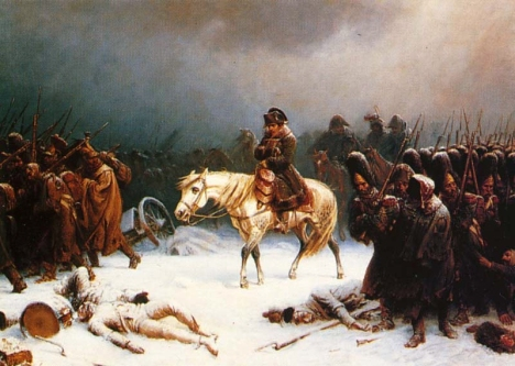 Napoleon's withdrawal from Russia, a painting by Adolph Northen