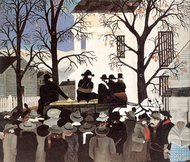 """John Brown Going to His Hanging"", by Horace Pippin"