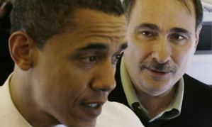 President Obama with David Axelrod
