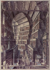 """""""The Library of Babel""""  is a short story by Argentine author and librarian Jorge Luis Borges conceiving of a universe in the form of a vast library, undoubtedly in part inspiring this book as it has informed many other works of art."""