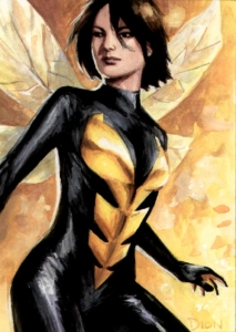 "Marvel Comics Janet Van Dyne, also known as ""The Wasp"""