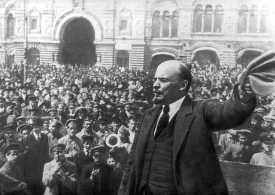 Lenin during the Russian Revolution, 1917