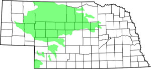 Map of Nebraska Sand Hills