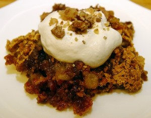 Picture from the Post and Courier of S. Carolina, where Ozark Pudding is known as Hugunot Torte