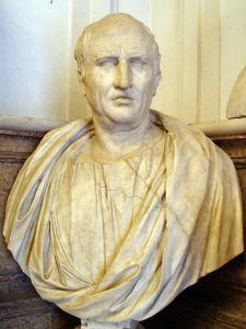 A first century AD bust of Cicero in the Capitoline Museums, Rome