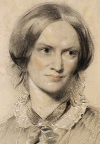 Charlotte Brontë, chalk, 1850, by George Richmond