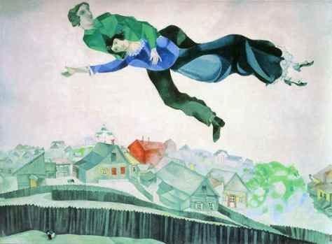 "Marc Chagall, ""Above the Town"""