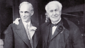 Henry Ford, left, and Thomas Edison, right
