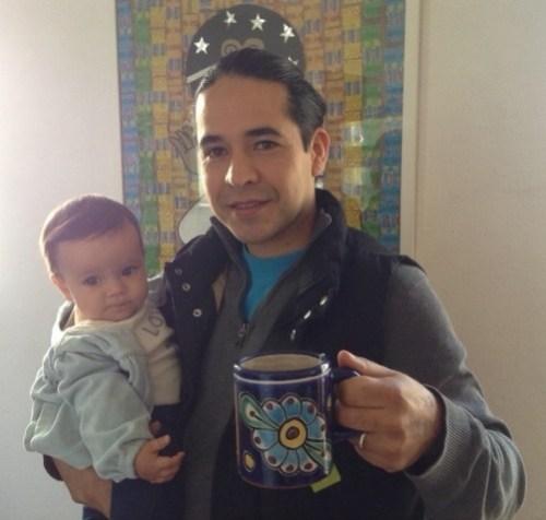 (Pictured here with his 9-month-old daughter Vida from Jama's blog at https://jamarattigan.com/2016/03/24/hotteas-of-childrens-literature-duncan-tonatiuh/