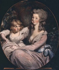 Peggy Shippen Arnold and child, by Daniel Gardner