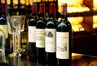 "Bordeaux. The standard ""high shouldered""  Bordeaux wine bottle"