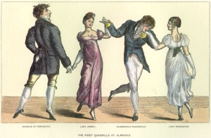 The First Quadrille at Almack's: a French print