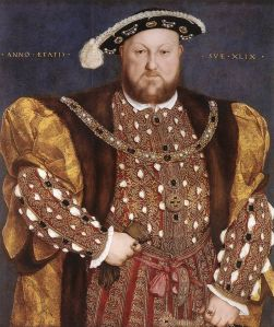 Portrait of Henry VIII by Hans Holbein the Younger circa 1540