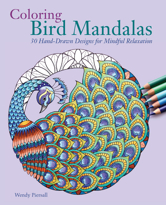 Review Of Three New Adult Coloring Books Bird Mandalas Flower Mandala Postcards And Calming Dot To