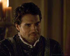 Henry Cavill as Charles Brandon, duke of Suffolk and Henry VIII's closest friend, in BBC's The Tudors