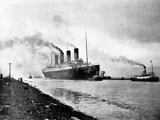 Titanic on her sea trials, April 2, 1912
