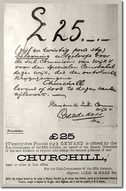 Churchill's Wanted Poster