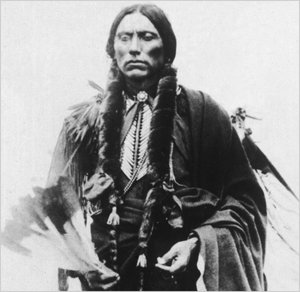 Quanah Parker was the last chief of the Comanches — and the son of Cynthia Ann Parker, who was captured as a child by the Comanches. Hulton Archive/Getty Images