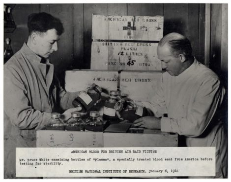 Charles Drew on the right (the caption only mentions the white man on the left)