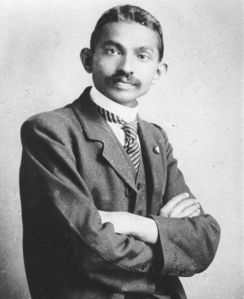 Gandhi as a young attorney in South Africa