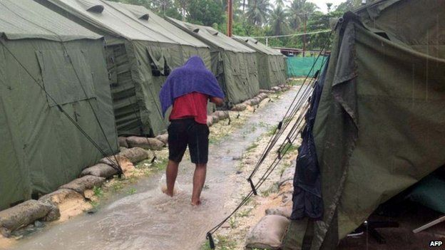 Conditions in the camps have been criticised by NGOs and the UN
