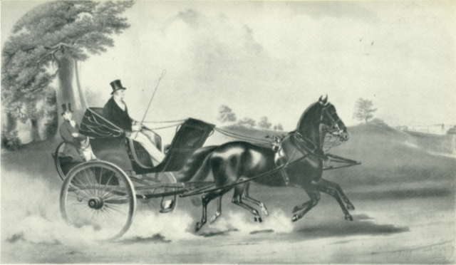 Curricle, such as would have been driven by Sebastian St. Cyr (via Georgian Index)