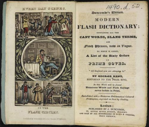 Image of an 1835 Flash Dictionary from the British Library