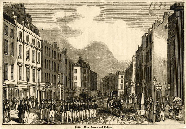 1833 sketch of Bow Street and the police
