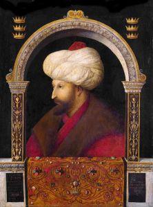 Portrait of Sultan Mehmet II, 1480, by Gentile Bellini